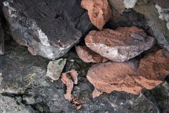 Stenen van verschillend kleuren en vormenclose-up royalty-vrije stock foto