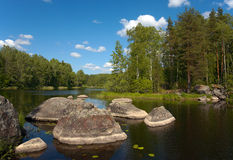 Stenen van Vuoksa Stock Foto