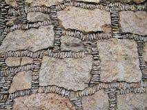 Stenen in voorhistorisch metselwerk Stock Afbeelding
