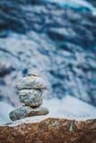 Stenenstapel in bergen, Noorwegen Stock Afbeelding