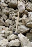 Stenenstapel met hamer Royalty-vrije Stock Foto's