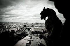 StenGargoyles av Notre Dame Royaltyfri Foto