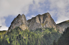 Stenget stenar från Carpathians berg Arkivfoto