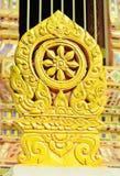 Stengränsmarkör av templet Royaltyfria Foton