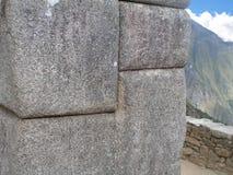 Stenhuggeriarbetet av Machu Picchu Royaltyfri Fotografi