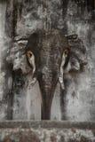 Stenhuvud av en elefant Arkivbild