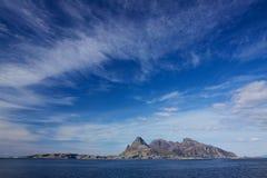 Stenig ö i Norge arkivfoto