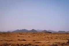 Stenig öken, den Sinai halvön, Egypten Arkivbild