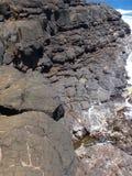 Stenig avsats kauai royaltyfri bild