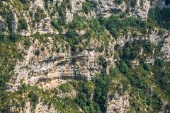 Stenig bakgrund av klyftorna Du Verdon i Frankrike Royaltyfria Bilder