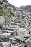 Stenig bergbana Fotografering för Bildbyråer