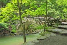 Stenig bro i stenig bäckSP Arkivbilder
