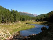 stenig colorado bergnationalpark arkivbilder