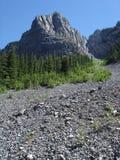 stenig glidbana för Kanada bergrock Arkivbilder