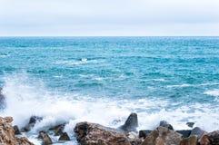 Stenig havskust Royaltyfria Bilder