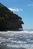 Stenig havskust som ser som ett gigantiskt huvud Fotografering för Bildbyråer