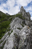 Stenig kant av berget, montering Catria, Apennines, Marche, Italien Royaltyfria Foton