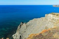 Stenig klippa nära Luz royaltyfri fotografi