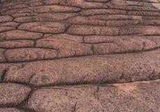 Stenig knappberggrund uppstår naturligt i natio för kra för Phu hinrong Arkivbilder