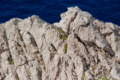 Stenig kust av ön pag i Kroatien Fotografering för Bildbyråer