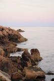 Stenig kust av Maine Arkivbild
