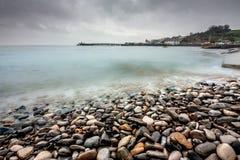 Stenig kust i Swanage Fotografering för Bildbyråer