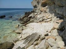 Stenig kust Krim Royaltyfria Bilder