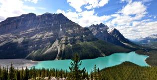 stenig peyto för Kanada lakeberg Royaltyfri Fotografi