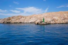 stenig rab för kustcroatia ö Fotografering för Bildbyråer
