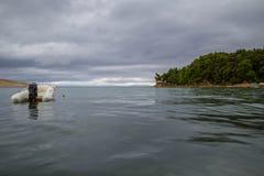 stenig rab för kustcroatia ö Arkivfoto