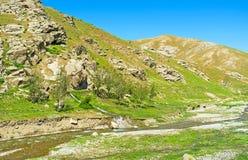 stenig russia för altaiberg dal Arkivbilder