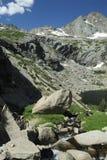stenig ström för alpina colorado berg Arkivfoton