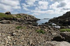 stenig strand Arkivbilder