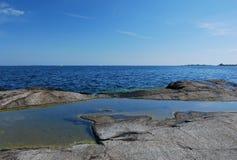 stenig strand Royaltyfri Foto