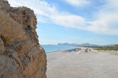 stenig strand Royaltyfria Bilder