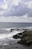 Stenig strand i Sardinia, Italien Royaltyfri Bild