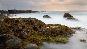 Stenig strand, Taiwan kust Royaltyfri Bild