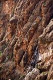 stenig textur för klippa Arkivbild