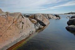 stenig waterway Royaltyfria Bilder