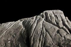Steniga berg och bakgrund för mörk svart i Asien Phuket Thailand Royaltyfri Bild