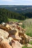 stenigt berg Arkivfoto