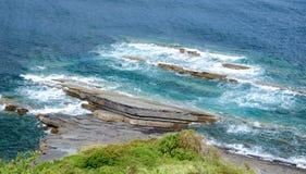 stenigt hav för kust Arkivbilder