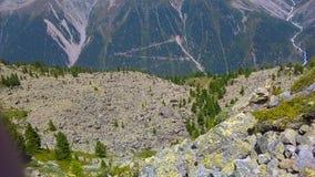 Stenigt landskap av fjällängarna Arkivbilder