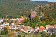 Stenigt landskap för sikt Dahn och Dahn Royaltyfria Foton