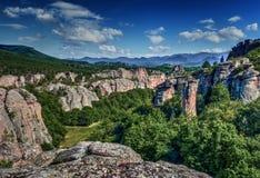 Stenigt landskap, geologiskt fenomen royaltyfri foto