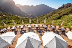 Stenigt landskap på den Tenerife ön Royaltyfri Bild