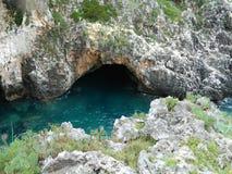 Stenigt rev- och blåtthav Arkivbild