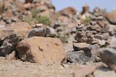 Stenjämvikt, kiselstenbunt Royaltyfri Fotografi