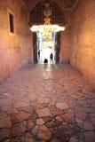 Stenkorridorer av Hagia Sophia Arkivfoto