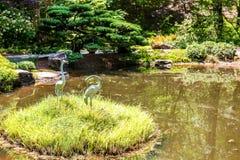 Stenkranar på den gräs- ön Arkivfoto